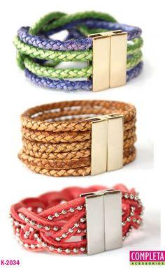 Pulseira Bracelete Kit com 3 pulseiras