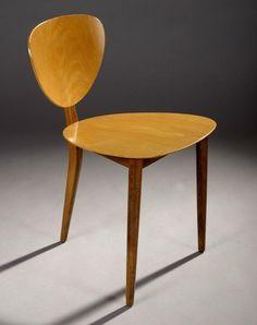 Max Bill; 3-Legged Wooden Chair for AG Mobbelfabrik, 1952. @designerwallace