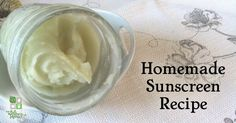 Homemade Natural Sunscreen Recipe-very moisturizing and easy to make