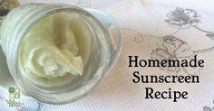 Homemade Natural Sunscreen Recipe-very moisturizing and easy to make