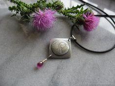 Купить подвеска из серебра Катенька - фуксия, подвеска серебро, подвеска из серебра, подвеска серебряная