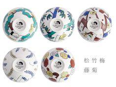 KUTANI SEAL/お花のごはん茶碗(菊) - ATAU GENERAL STORE アタウ ジェネラルストア インテリア・雑貨のセレクトショップ