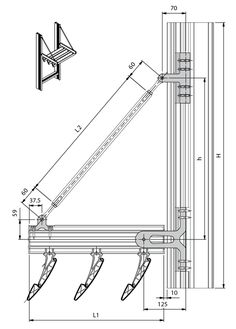 Technical Drawing For Brise Soleil Louvers