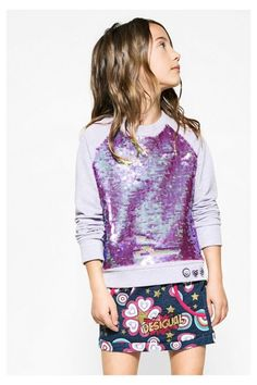 Girls' sweatshirt with sequins - Dickens | Desigual.com H