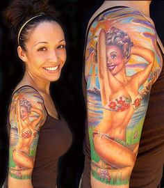 Image detail for -Pin Up Tattoo, Betty Boop tattoos, pin up tattoos, tattoos, tattoo ...