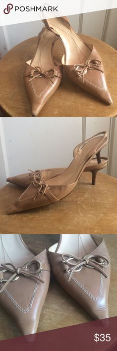 Kate Spade Pointed Sling Back Kitten Heel Kate Spade Pointed Sling Back Kitten Heel God Conditions Size 7.5 Wear On Point kate spade Shoes Heels