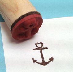 Heart Anchor Rubber Stamp Pirate Nautical Tattoo by RADstamps Smal Tattoo, Tattoo Platzierung, Small Tattoo Placement, Cool Small Tattoos, Tattoos For Women Small, Trendy Tattoos, Get A Tattoo, New Tattoos, Female Tattoos