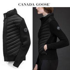 CANADA GOOSE ジャケット CANADA GOOSE HyBridge Knit Jacket アンダーコートにも◎Black Canada Goose Women, Knit Jacket, Winter Jackets, Knitting, Black, Fashion, Winter Coats, Moda, Knit Cardigan