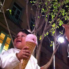 IO enjoying his icecream