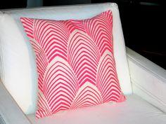 Neon Arches Throw Pillow. $75.00, via Etsy.