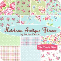 Heirloom Antique Flower Fat Quarter Bundle Lecien Fabrics - Fat Quarter Shop