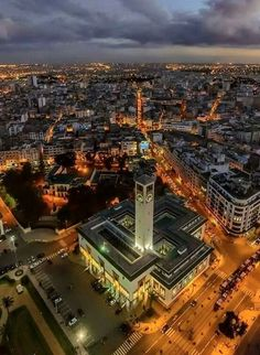 Casablanca Casablanca Movie, Casablanca Morocco, Today Pictures, Countries Of The World, Aerial View, Homeland, Africa, Around The Worlds, Skyline