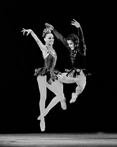 """New York City Ballet production of """"Jewels"""" (Rubies) with Patricia McBride and Mikhail Baryshnikov, choreography by George Balanchine"""