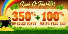 350% No Rules Deposit Bonus   100% Free Chip @ 11 RTG Casinos March 2016