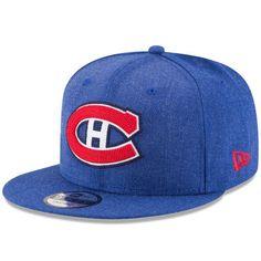 wholesale dealer f216a 73f85 Men s New Era Navy Montreal Canadiens Heather Crisp 9FIFTY Snapback Adjustable  Hat