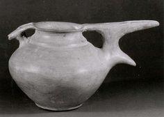 Bridge-spouted pitcher (Period: Iron Age II Date: ca. 10th–9th century B.C. Geography: Iran, Dinkha Tepe Culture: Iran Medium: Ceramic)