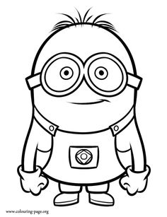 Another beautiful coloring page from Despicable Me 2 movie. Print out and have fun with this picture of the Gru's minion!