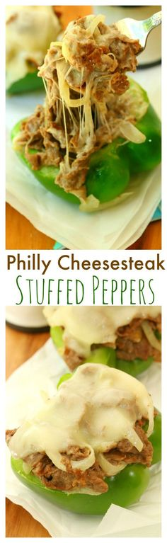 These Philly Cheesesteak Stuffed Peppers are filled with hot, bubbly cheese, savory steak, mushrooms, and onions, all inside a fresh bell pepper.