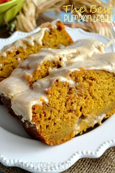 Moist, soft and tender pumpkin bread topped with the most delicious brown butter maple glaze! This is the BEST you'll ever try!