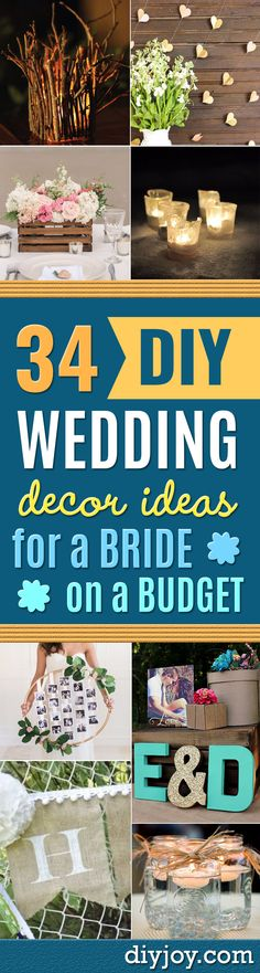 DIY Wedding Decor - Easy and Cheap Project Ideas with Things Found in Dollar Stores - Simple and Creative Backdrops for Receptions On A Budget - Rustic, Elegant, and Vintage Paper Ideas for Centerpieces, and Vases http://diyjoy.com/cheap-wedding-decor-ideas