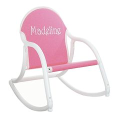 This kids rocker folds to flat and can easily be carried by children. These folding kids rocking chairs are useable indoors or out. Kid's love their personalized rocking chair!