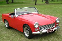 Austin Healey Sprite MKIII, wind up windows were a vast improvement on the MKII we owned with side screen windows