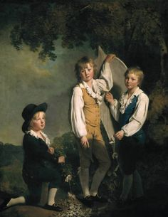 Three Children Of Richard Arkwright With A Kite Artwork By Joseph Wright Of Derby Oil Painting & Art Prints On Canvas For Sale Rococo, Hudson River School, Go Fly A Kite, Cultura General, Best Portraits, Child Portraits, Three Kids, Canvas Art Prints, Frames
