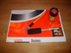 Maak je eigen freezer papier voor quilten, textielwerkers ed. Gebruik de verpakking van kopieerpapier.