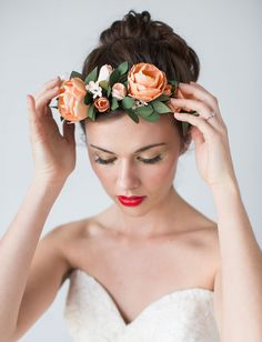 Ahh woah that's me!! Handmade by Sarah Kim flower crown & products--go check her out! She does INCREDIBLE work :)