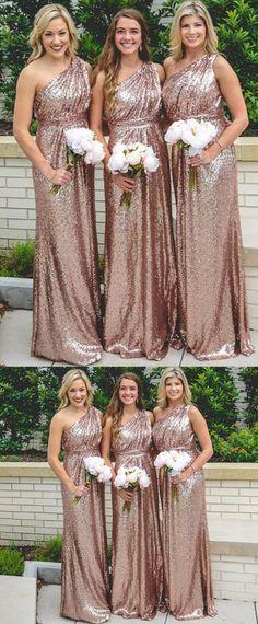 Inexpensive Bridesmaid Dresses, Bridesmaid Dresses 2017, Champagne Bridesmaid Dresses, One Shoulder Bridesmaid Dresses, Sequin Prom Dresses, Affordable Prom Dresses, Sexy Wedding Dresses, Party Dresses, Dresses Dresses