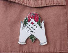 Protea Flower Hard Enamel Pin