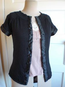 Tutorial:  T shirt to cardigan