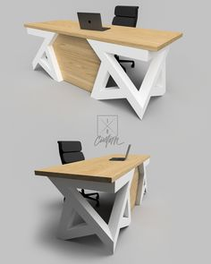 Modern Angular Executive Desk Custom Steel Base w… – Table Ideas Furniture Layout, Furniture Arrangement, Furniture Plans, Table Furniture, Furniture Design, Laminate Furniture, Furniture Online, Bedroom Furniture, Modern Executive Desk
