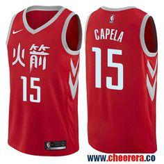 Houston Rockets  15 Clint Capela Red Nike NBA Men s Stitched Swingman Jersey  City Edition Robert 6c143b3a1