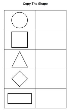Visual perceptual skills are required for a child to copy information from a board as well as to copy shapes and other objects. This activity will provide the child with practice copying the shapes into the empty squares which will improve the child's visual perception skills.