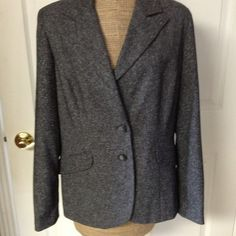 Grey tweed pantsuit Beautiful grey/white tweed pantsuit by Tailor B. Moss!  Fully lined jacket and pants. Pants are cuffed with side pockets. Only worn a couple of times...I'm no longer a size 10. :-( Other