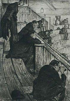 Théâtre, Le Paradis (Grande Planche) - JULES DE BRUYCKER - etching and soft