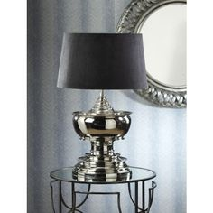 I pinned this Barclay Butera Seaside Table Lamp from the Zodax event at Joss & Main! Lamp Shades, Lighting, Table Lamp, Polished Nickel, Table, Home Decor, Silver Table Lamps, Beautiful Lighting, Transitional Furniture