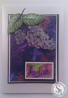 Designed by Claire Sheena Lilac Stamp Sparkle : Boudoir, Fig, Peony, Sage, Sea Breeze.  #spectrumnoir #sparkle