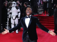 When he embraced the epicness of the Star Wars: The Last Jedi premiere: John Boyega, Bbc Radio 1, Social Media Trends, Professional Look, Last Jedi, Action Movies, Falling In Love, Famous People, Interview