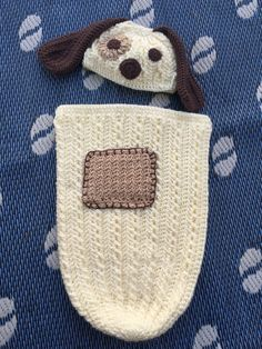 Puppy Love crocheted baby cocoon. @memawscountrycrafts on etsy