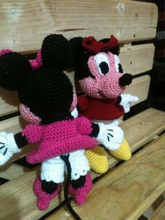 Minnie Mouse, Disney, Amigurumi Chofisgurumi tejidas a gancho, hechas en México, Tonanitla