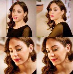 Turkish Beauty, Turkish Actors, Celebs, Celebrities, Tv Series, Hair Beauty, Actresses, Writing Prompts, Pretty