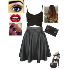 cool clubbing outfit even tho I don't go clubbin by katygrocks, via Polyvore