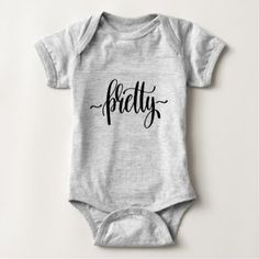 Lovely Pretty Sparkle Fashion Black Quote Baby Bodysuit - black and white gifts unique special b&w style