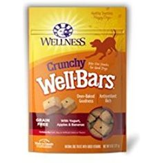 Wellness natural grain free well bars crunchy dog treats are grain free, wholesome, and all natural bite-sized dog Biscuits. They are oven-baked to preserve the natural flavors in all the varieties dogs love to catch, chew and eat. Honey Recipes, Banana Recipes, Apple Recipes, Dog Treat Recipes, Healthy Dog Treats, Dog Food Recipes, Natural Pet Food, Natural Dog Treats, Dog Treats Grain Free