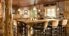 Rustic kitchen seating