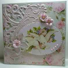 Marianne Dies for Cards - Bing images Making Greeting Cards, Greeting Cards Handmade, Wedding Cards Handmade, Shabby Chic Cards, Spellbinders Cards, Engagement Cards, Marianne Design, Cards For Friends, Pretty Cards
