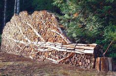 This is the 'Woodpile' by Alastair Heseltine, a sculptor from Hornby Island, British Columbia, Canada. Most of Alastair's work is in woven w...
