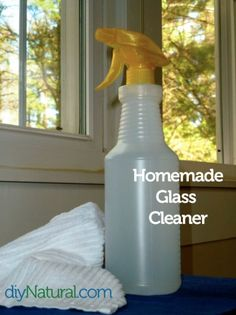 It's time for spring cleaning! Use this Homemade glass recipe and these tips to freshen up the house, purge unwanted items, and welcome the new season.